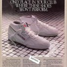 1986 Reebok Workout Shoes with Outstanding Support Ad