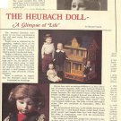 1985 Article/Pics/Info on German Gebruder Heubach Dolls