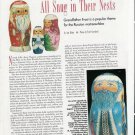1993 Article/Pics/Info on Russian Nesting Matreoschkas Grandfather Frost Dolls