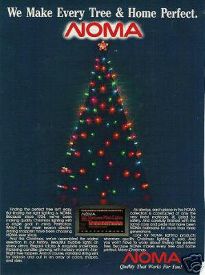 1988 Noma Christmas Tree Lights Ad/Advertisement~Since 1924