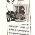 1950s A&H Gigi Doll Carousel Wardrobe Ad/Advertisement