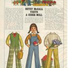 1979 Betsy McCall Visits a Cider Mill  Paper Doll & Outfits Page