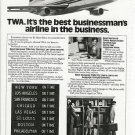1976 Vintage TWA (Best Businessman's Airline) Print Ad/Advertisement~1970s