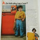 1976 TIDE Soap/Gibson Automatic Washer Ad~Kids play Tug o'War? Cute Boy w/ Rope