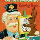 1958 CAPTAIN KANGAROO TV's Robert Keeshan COLORING BOOK~Authorized Edition~50s