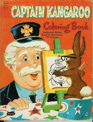 1958 CAPTAIN KANGAROO TV's Robert Keeshan COLORING BOOK~Authorized Edition~50s