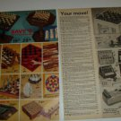 1975 Vintage Ad Pgs for Classic Chess Sets/Games~King Arthur,Florentine,Gothic
