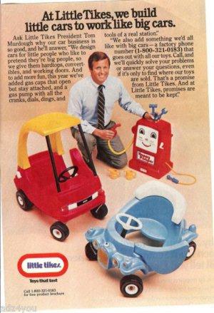1982 Little Tikes President Tom Murdough Advertises Happy Pumper & Car Toys Ad