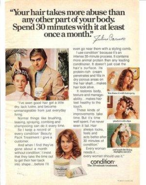1975 Clairol Hair Condition Treatment Ad~Julius Caruso