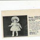 1950s Vintage Uneeda Walking TODDLES Baby Doll Ad