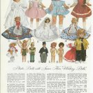 1953 Terri Lee,Bride,Walking,Tinker Bell,Peter Pan, Etc Dolls Catalog Ad Page