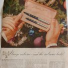 1951 Parker 51 Pen Set Ad (Only Pen w/Aero-metric Ink System, Lustraloy Caps)