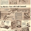 1960s Vintage Emenee Toy Rifle Gun and Target Range Catalog Ad/Advertisement