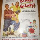 1951 Lucky Strike Cigarettes Ad~Camping~Girl Marines