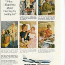 1960s Boeing Jets Ad~Mrs Earl Calkins,Nola Kirkpatrick,Ron Merritt,Karen Parsons