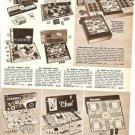 1961 Classic Board Games Ad~Scrabble,Parcheesi Etc~60s