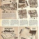 1961 Milton Bradley Games Ad~Scrabble,Monopoly Etc~60s