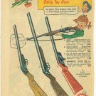 1950s Daisy Toy Guns Ad ~ 4 Pictured w/Prices Listed