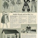 1950s Western Playsuits Costumes Ad Page~Lone Ranger,Wyatt Earp,Annie Oakley Etc