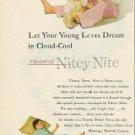 1952 Kids PJs Ad~Child Beautician Practicing on Doll