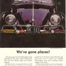 1960 Vintage Volkswagen Beetle Bug Car w/1959 Connecticut License Plate Ad Page