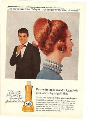1950s James Darren (Gene Krupa Story co-star) Halo Ad