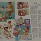 1962 Vintage Ideal A.C. TINY TEARS,Baby Toodles,Butterball Etc Doll Ad Pgs~1960s