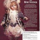 '96 Franklin Heirloom Bebe Steiner Porcelain Collector Doll Ad Pg/Advertisement
