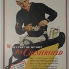 1943 Chesterfield Cigarette Ad ~ U.S. Sailor~WWII Era