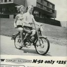"""1964 Harley-Davidson """"M-50 only $225"""" Motorcycle Ad~60s"""