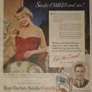 1950 Camel Cigarette Ad~TV/Singing Star Kyle MacDonnell