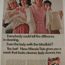 1967 TIDE Soap Blindfolded Lady Can Tell Difference Ad