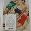 1940 Vintage Jantzen Swim Suits & Trunks Sun Clothes Ad~Sarra~1940s Fashion