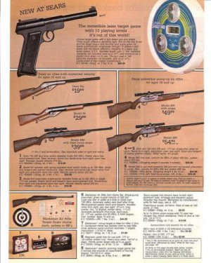 1987 Vintage Daisy,Marksman Air Rifles Ad/Advertisement Page~1980s