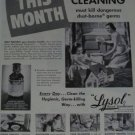 1940s Lysol Disinfectant Ad~Girl playing with Doll House~Mother Spring Cleaning