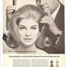 1965 Clairol Colorfast Hair Shampoo Ad~Enrico Caruso