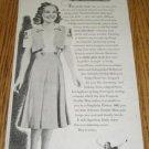 1938 Ad~Skater Sonja Henie Wears Double Mint Gum Dress