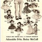 1957 American Character Betsy McCall & 18 Doll Outfits/Costumes Catalog Ad~1950s