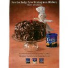 1996 Pillsbury Doughboy Hot Fudge Frosting Ad~So Cute!