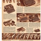 40s Vintage Catalog Ad Page for Pocket Knives & UNDERWOOD Portable Typewriters