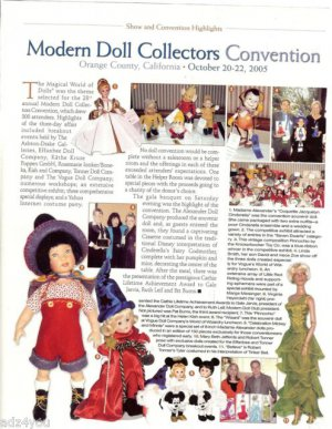 Article/Pics/Info on 2005 Modern Doll Collectors Convention~Orange County CA