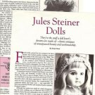 Article/Pics/Information on Jules Steiner Dolls w/ID Marks/Markings Pictured