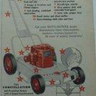 1955 Moto-Mower Constellation Power Lawn Mower Ad/Sunbeam Rotary Mower Ad~1950s