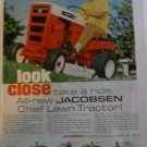 1968 Jacobsen Chief LT 750 7 h.p. Electric Start Lawn Tractor Print Ad Page~60s