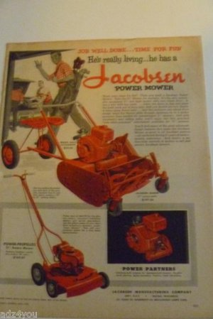 1955 Jacobsen Manor,Power-Propelled Rotary Mower,Riding