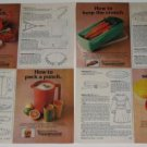 How to...Tupperware Ad~Colorful items Pictured