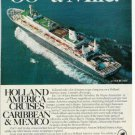 Holland America Noordam Cruise Ship Ad~ 38 cents a mile