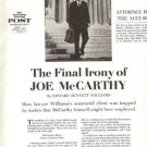 Interesting 1962 Article on Senator Joe McCarthy~1960s
