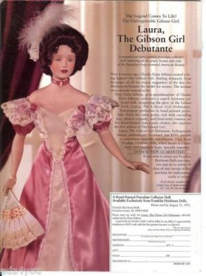 Franklin Heirloom Laura Gibson Girl Debutante Doll Ad