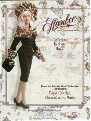 Effanbee Daphne Dimples,Brenda Starr Collection Doll Ad